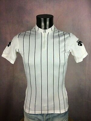 DESCENTE Maillot Jersey Maglia Camiseta Made in Japan True Vintage Stripped Rayé
