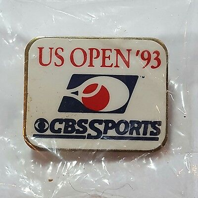 1993 CBS SPORTS US OPEN TENNIS Media Press Lapel Pin New In Sealed Plastic