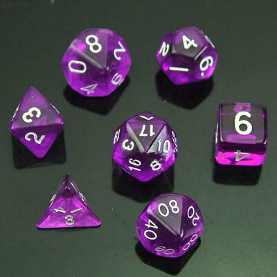 E2FE A3A7 RPG Polyhedral 7 Sided D4 D6 D8 D10 D12 D20 &DRAGONS D&D RPG Dice Game