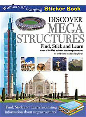 Wonders of Learning Sticker Book - MEGA STRUCTURES - Fun Find Stick & Learn