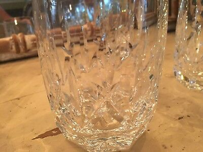 Waterford Crystal Double Old Fashioned Glass Westhampton Pattern EUC