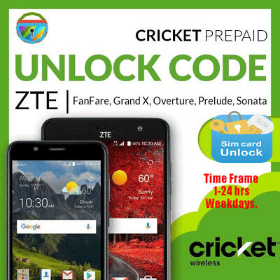 Cricket Wireless Factory Unlock Code Zte Overture 3 Z851M Fast Service*