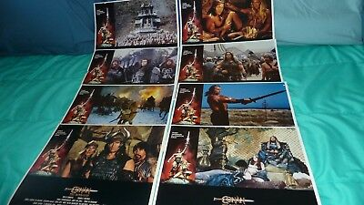 "CONAN THE BARBARIAN ARNOLD LOBBY CARD SET 8 CARDS 1982 8"" X 10"" #mp-29"