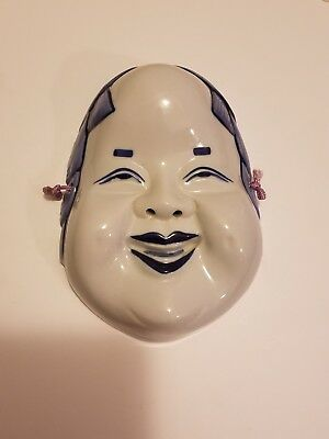 Japanese Noh Style Ko-Omote Theatre Ceramic Mask from Pier 1 Import