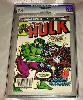 Incredible Hulk 271- Cgc 9.4-White Pages!- 1St Appearance Of Rocket Racoon!!!!