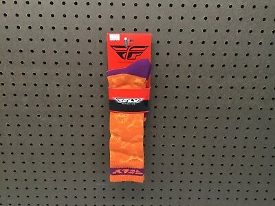 Fly Racing 350-0418S MX Pro Sock Sm/Md Orange/Purple Thin