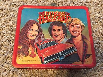 The Dukes of Hazzard metal lunch box by Aladdin Vintage 1980 NO THERMOS