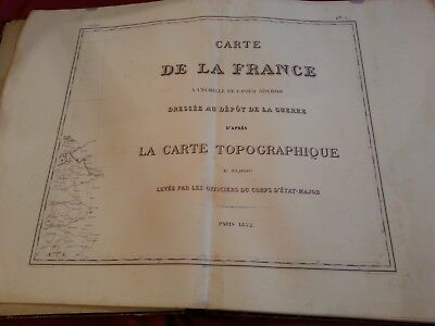 28 Large Cards of FRANCE Year 1852