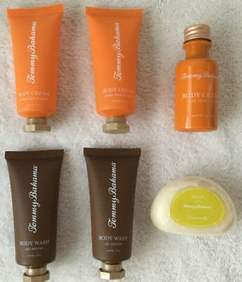 Tommy Bahama Body Wash Body Cream Lotion & Soap Travel Sizes 1.1 Fl Oz Lot of 6