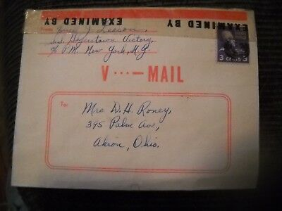 V mail 1945 Odessa Russia S S Hagerstown Victory WW II 2  Akron Ohio