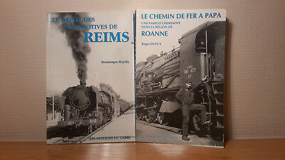 Lot De 2 Livres Editions Du Cabri Depot Locomotives De Reims Et Chemin De Fer A