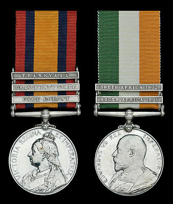 Boer War-South Africa Campaign Medals-QSA & KSA Pair-FRENCH-ASC-Ghost Dates