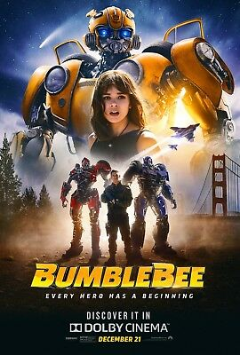 "Bumblebee Poster 48x32"" 36x24"" 21x14"" 2018 Movie Film Art Print Silk"