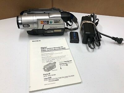 Sony Handycam CCD-TRV308 Hi8 Video Camera Recorder w/ Battery & Charger Manual