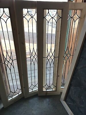 SG 2682 4available price Each Beveled and leaded glass window 13 by 47