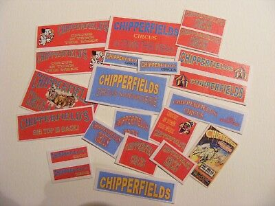 CHIPPERFIELD CIRCUS  STICKER COLLECTION  x 22