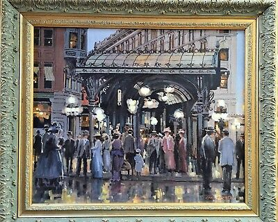 Carl Funseth original Signed oil painting canvas Listed Artist Pioneer Square