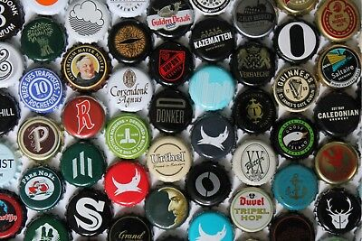 50 assorted Crown Beer Bottle Tops - UK and Continental - free PP