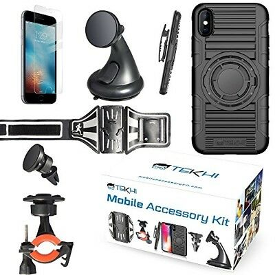 IPhone 8 Bundle Accessory Combo Set Kit - Includes: Silicone Protective Case + B
