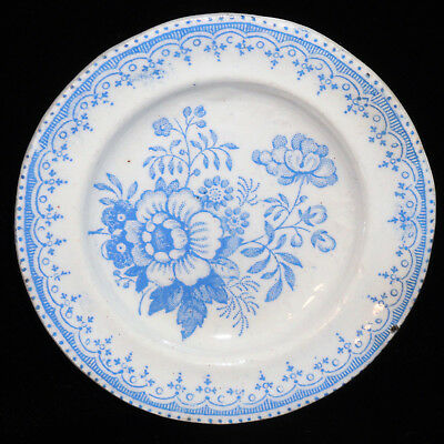 Pearlware Miniature Blue Floral Dinner Set Plate 1830 Staffordshire Childs