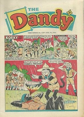 Dandy Comics. August 1965. Very GOOD Condition. Aug 7th, 14th, 21st & 28th 1965.