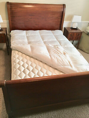Antique mahogany Sleigh Bed Full size with mattress and box spring