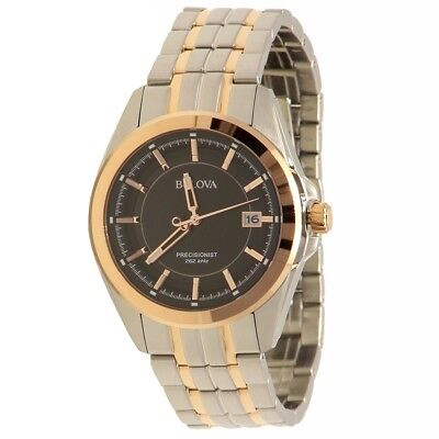 Bulova Men's 98B268 Precisionist Two-Tone Stainless Steel Analog Watch