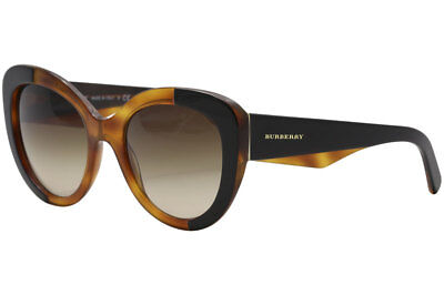601eb605c757 Burberry Women s BE4253 BE 4253 365013 Top Black On Amber Round Sunglasses  54mm