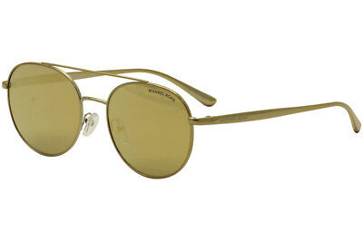 5de86564a6f Michael Kors Women s Lon MK1021 MK 1021 11687P Gold Pilot Sunglasses 53mm