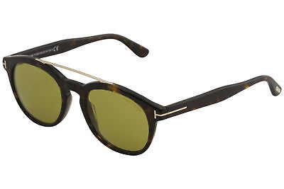 8a604bda7a Tom Ford Men s Newman TF515 TF 515 52N Dark Havana Fashion Round Sunglasses  53mm