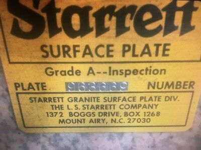 RR 446 Starrett Surface Plate and Stand 36 x 48