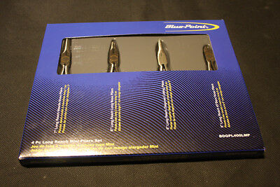 BLUE POINT 4pc Long Reach Miniature pliers set as sold by snap on