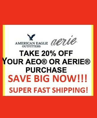 RECEIVE TODAY: American Eagle COUPON  20% OFF! + 40-50% OFF HOLIDAY COLLECTION
