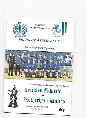 Frickley Athletic v Rotherham United FA Cup 3rd Round 4/1/1986