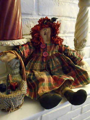 Primitive Grungy Annie Marie Doll   14in