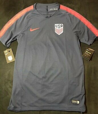 Men s Nike USA 2018 Squad Soccer Training Jersey Blue Red 893289-410 Size M e48aee826