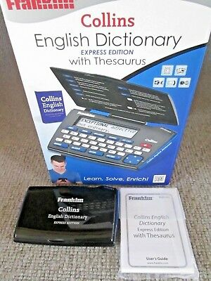 Franklin DMQ-221 Collins Express Electronic English Dictionary With Thesaurus