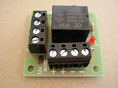 12v ac/dc Mini Handy little Relay board, ideal for security