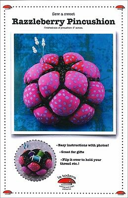 "La Todera Sewing & Craft Pattern: ""Razzleberry Pincushion"" - Holds Thread too!"