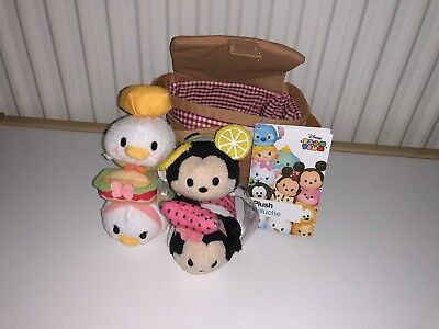 Disney Store Tsum Tsum Picnic Basket Mickey & Friends - NEW with tags