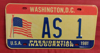 1981 District Of Columbia As-1 Us American Samoa Inaugural License Plate