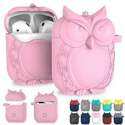 For Apple Airpods Earphones Case Cute Silicone Shockproof Cover Charging Shell
