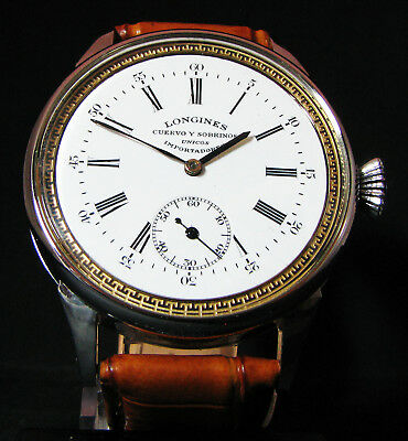 LONGINES ANTIQUE 1918 Steel Wristwatch PORCELAIN DIAL