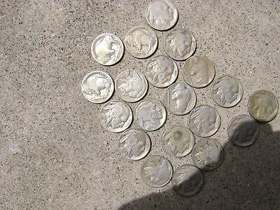 1935 Buffalo Nickel * One Roll of 40 Coins -- All Good Readable Dates  SALE