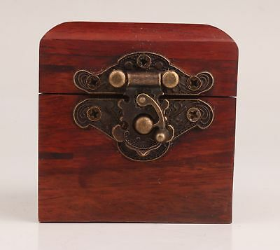 Red Wood Wood Carving Handmade High-Grade Ring Jewelry Box Gift Seal