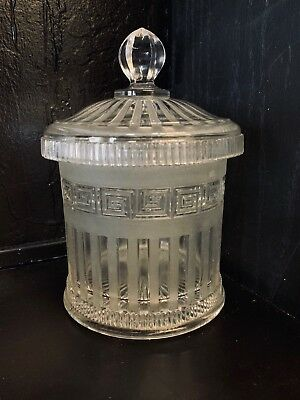 Sale Antique Molineaux Webb And Co. (1864-1867) Pressed Glass Biscuit Jar