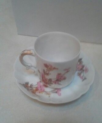 Antique Haviland & Co Floral Demitasse Cup And Saucer Set