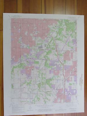 Grandview Missouri 1976 Original Vintage USGS Topo Map