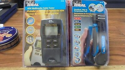 Ideal VDV Multimedia Cable Tester and OmniSeal Pro XL Compression tool Bundle
