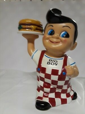 Colorful Collectible Frischs, Bobs, or Shoneys Big Boy Bank with Hamburger- 1999
